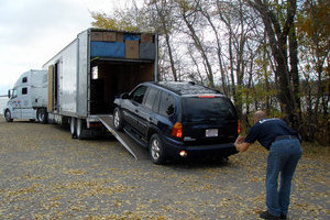 A Sport Utility Vehicle being delivered in mint condition by Leduc Truck Service