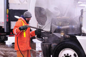 Leduc Moving and Storage trucks are clean and safe.